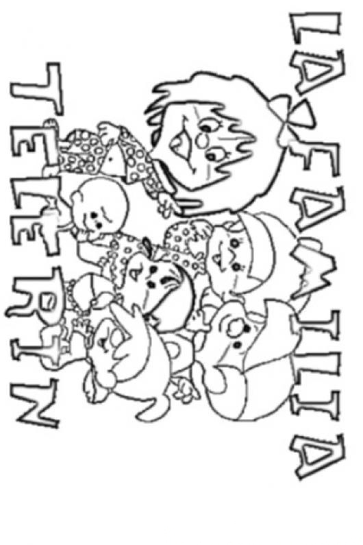 Dibujo Argentino De La Familia Telerin Para Colorear