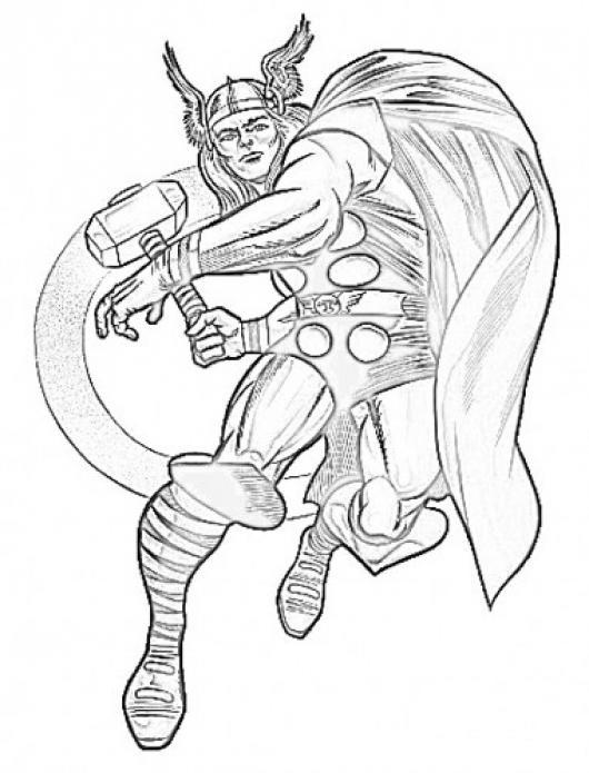 Dibujo De Thor Para Colorear Y Pintar Colorear Dibujos De Cholo