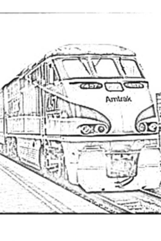 train coloring pages amtrak california - photo #2