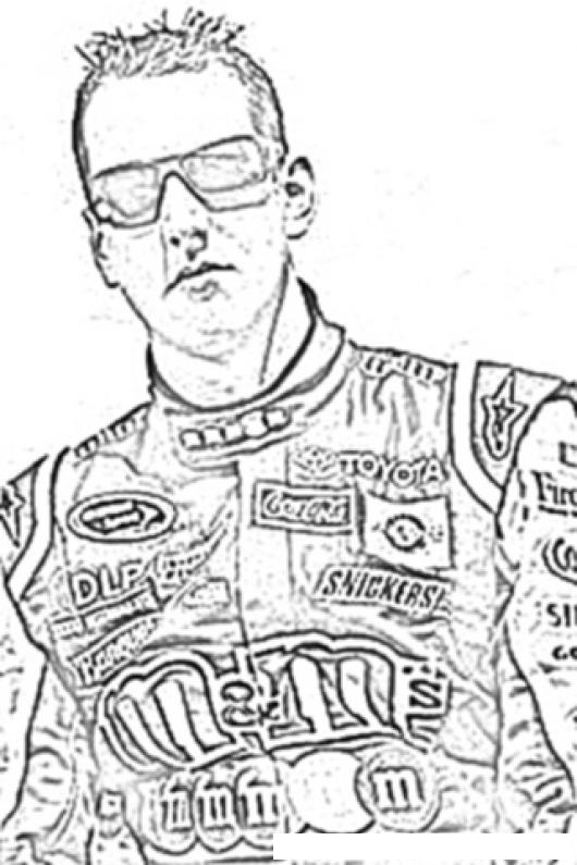 kyle busch racer coloring page analytical instrument repair amp calibration