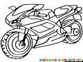 Dibujo De Ducatti Para Colorear Y Pintar