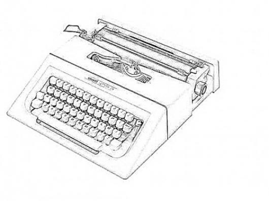 Maquina de escribir para colorear dibujos pintar picture - Maquinas para pintar ...