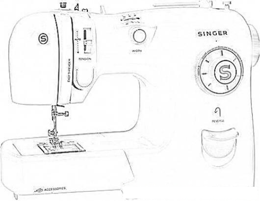 Maquina de coser para colorear colorear dibujos de cholo - Maquinas para pintar ...