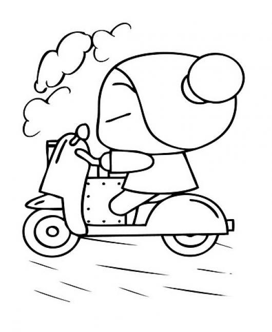 Colorar a Puca en Moto | COLOREAR PUCCA | dibujo de pucca para ...