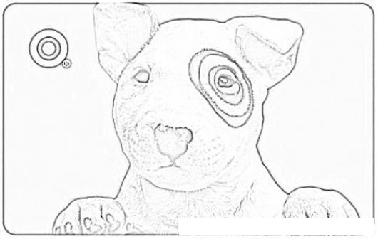 Target Dog Coloring Page