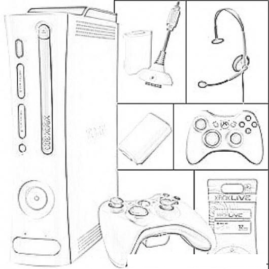 Xbox 360 Printable Coloring Pages : Xbox logo colouring pages page