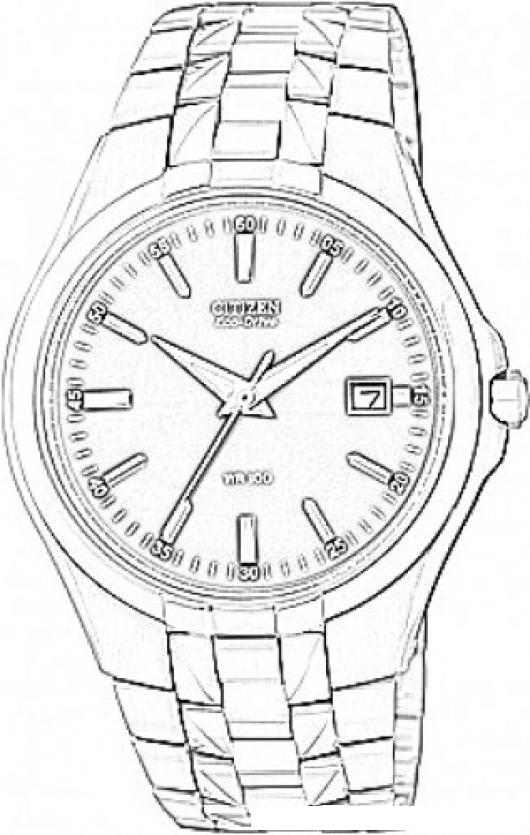 Dibujo de un reloj citizen para colorear y pintar - Dibujos de relojes para imprimir ...