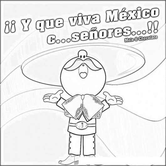 Que Viva Mexico Para Colorear  COLOREAR DIBUJOS DE CHOLO  Que