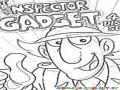 El Inspector Gadget En Dibujo Para Colorear Y Pintar