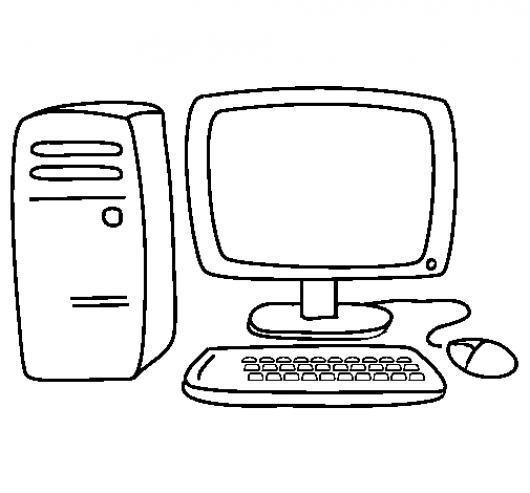 Free coloring pages of mouse de computadora