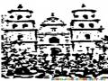 Iglesia Del Cristo Negro En La Basilica De Esquipulas Para Pintar Y Colorear