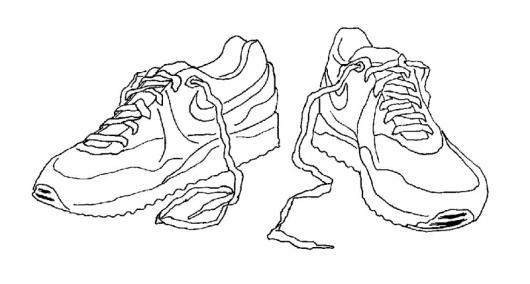 Colorear Par De Tenis Nike Colorear Dibujos De Cholo Colorear