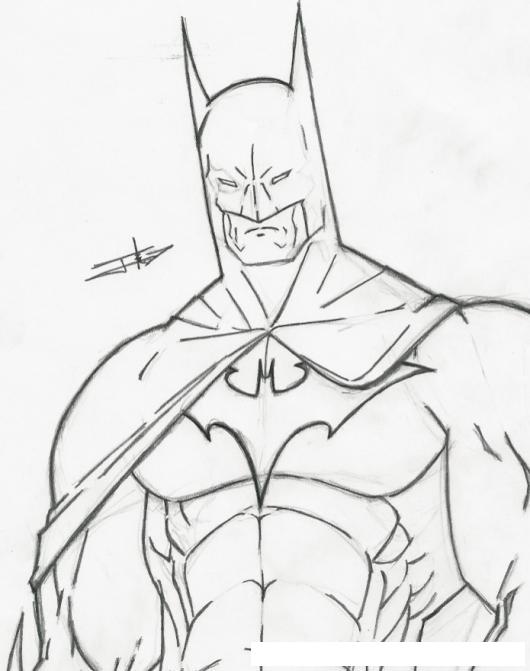 Dibujo A Mano De Batman Para Pintar Y Colorear  COLOREAR DIBUJOS