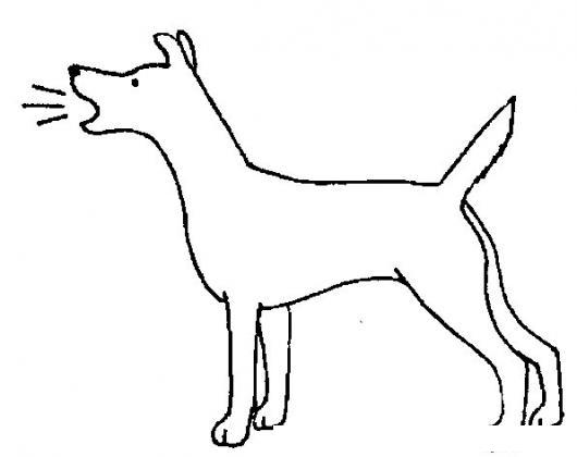 Dibujo De Perro Ladrando Para Colorear Colorear Dibujos De