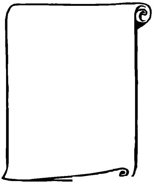 Free coloring pages of pergamino para colorear - Papel para dibujar ...