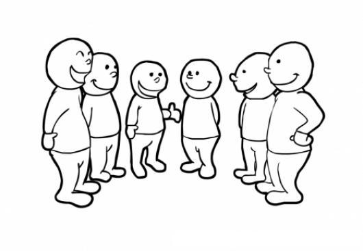 Resultado de imagen para personas conversando en dibujos