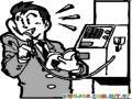Dibujo De Hombre Hablando Por Telefono Publico Para Pintar Y Colorear Telefono Monedero
