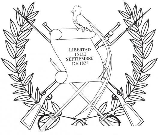 Escudo De Guatemala Para Colorear