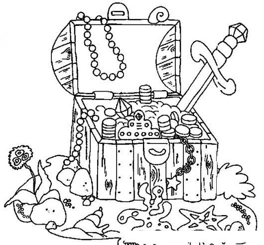 Cofre Del Tesoro Para Colorear Dibujos De Cofres De