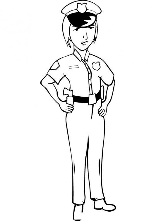 Policia Mujer Policia Para Colorear Mujerpolicia Policiamujer Chicapolicia