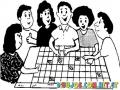 Colorear Un Grupo De Personas Organizando Eventos En Un Calendario