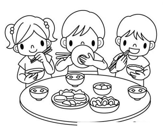 Ninos Comiendo Comida China Con Palillos Chinos Para Pintar Y ...