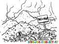 Dibujo De Basura Y Desechos Toxicos Para Pintar Y Colorear basurero