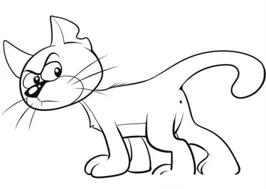 Dibujos De Los Pitufos Para Colorear Pitufos Imprimir Gratis: Azrael El Gato Malo De Los Pitufos Gato De Gargamel Para