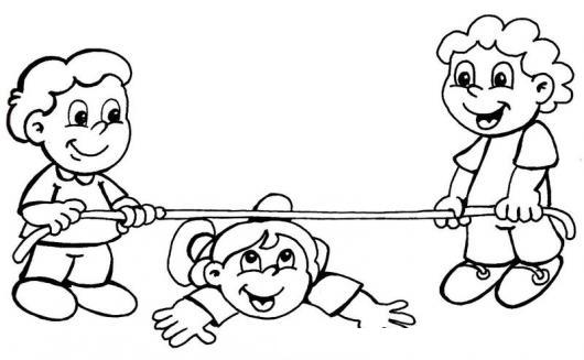 Ninos Jugando Con Una Cuerda Para Pintar Y Colorear | COLOREAR ...