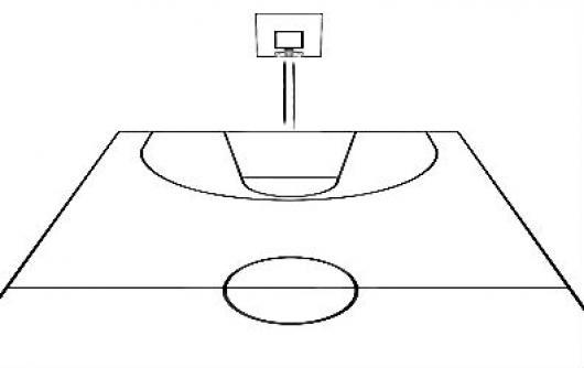 Cancha De Basketbol Para Colorear Y Pintar | COLOREAR DIBUJOS DE ...