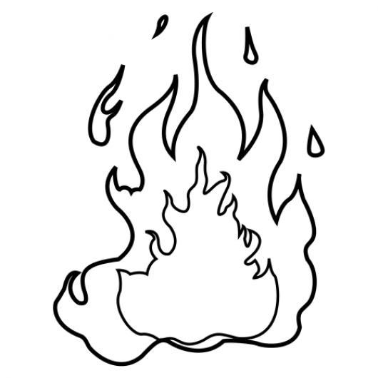 Llamas De Fuego En Caricatura Para Colorear  COLOREAR DIBUJOS DE