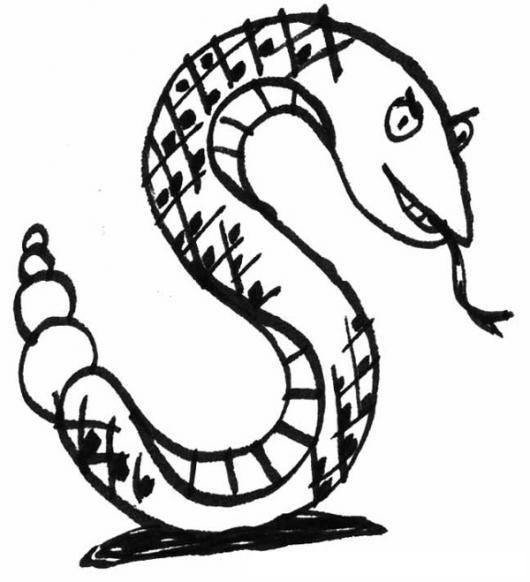 Dibujo De La Ese S De Serpiente Para Colorear  COLOREAR DIBUJOS