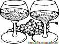 Dos Copas De Vino Para Colorear