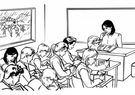 Dibujo Para Colorear Jovenes Estudiantes De Secundaria En