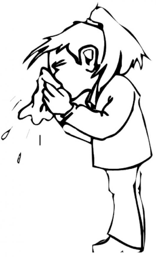 Para Colorear   COLOREAR DIBUJOS DE CHOLO   Dibujo De Chica Con Gripe
