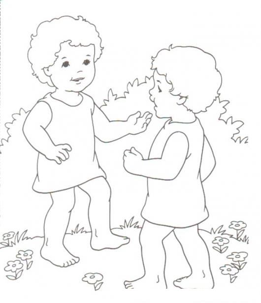 Colorear a Esau y Jacob de chiquitos   COLOREAR BIBLICOS   Dibujo ...