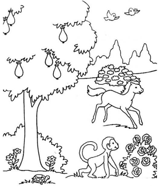 Colorear la creacion de Dios | COLOREAR BIBLICOS | Dibujo para ...