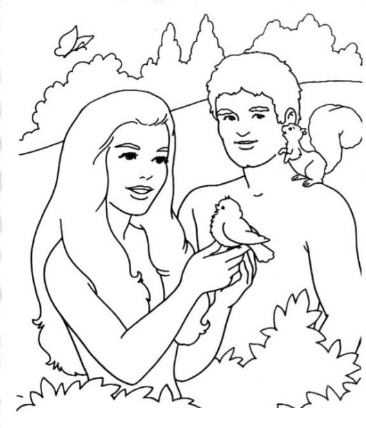 free coloring pages of huerto del eden
