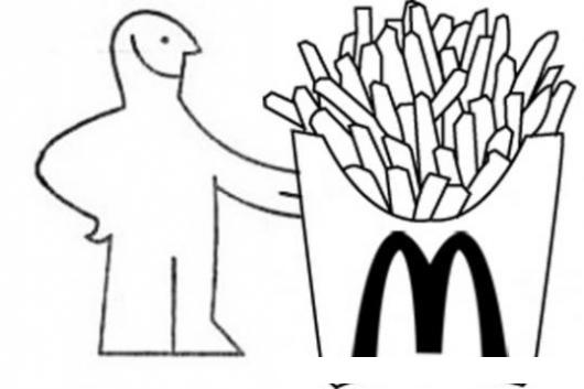papas fritas de macdonalds para pintar y colorear gratis