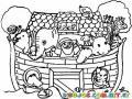 Colorear el arca de Noe