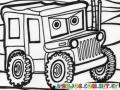 Dibujo De Jeep Militar Para Colorear