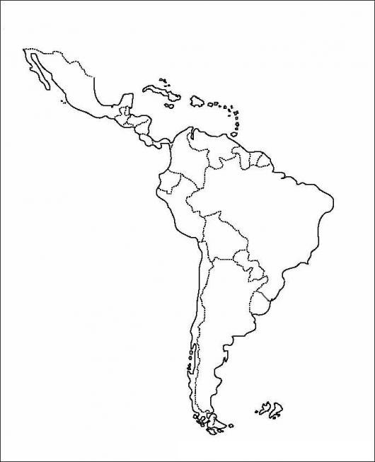 Dibujo De America Latina Para Pintar Y Colorear  COLOREAR DIBUJOS