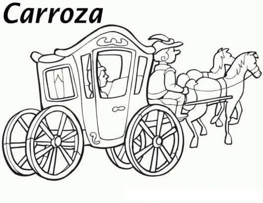 Carroza de cenicienta para pintar y colorear dibujos carrozas - Carroza cenicienta juguete ...