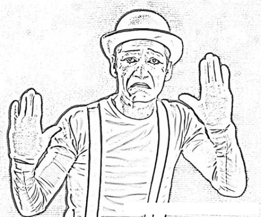 Dibujo De Mimo Triste Para Pintar Y Colorear | COLOREAR DIBUJOS DE