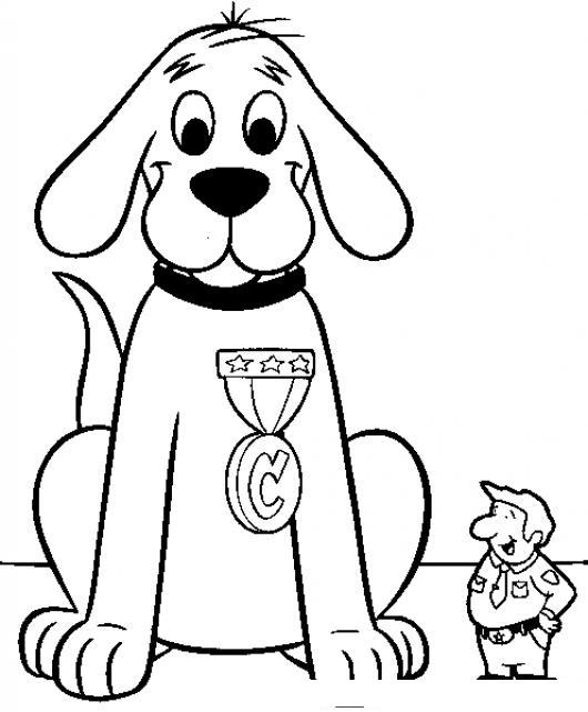 Perro Rojo Gigante Clifford Para Pintar Y Colorear  COLOREAR