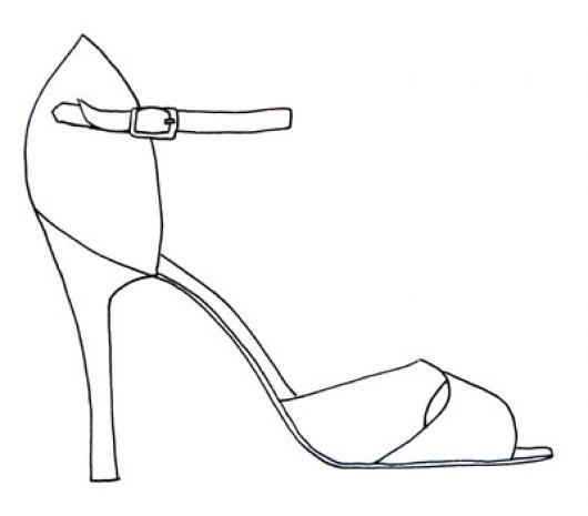 Dibujo De Zapato De Tacon Alto De Mujer Para Pintar Y Colorear