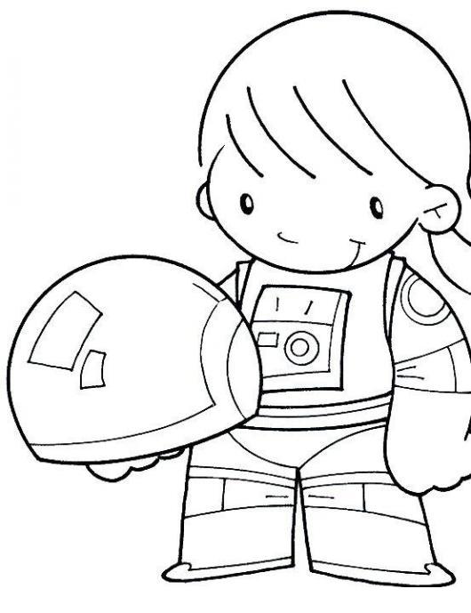 Dibujo De Nino Astronauta Para Colorear Dibujos De Trabajos ...