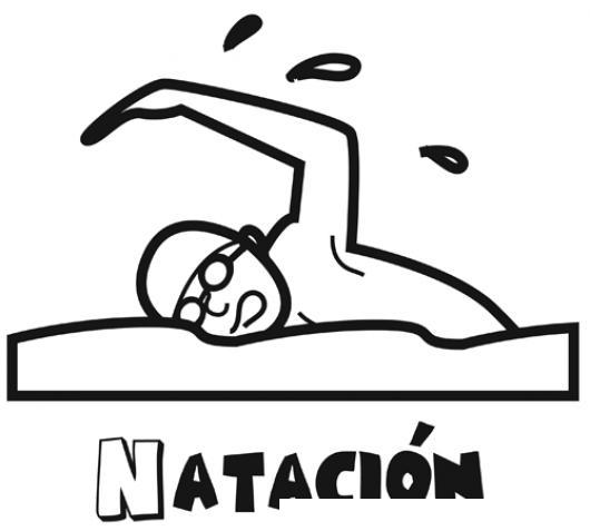 Dibujo De Natacion Para Pintar Y Colorear Hombre Nadando En El ...