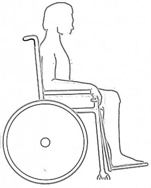 Silla de ruedas para dibujar imagui for Sillas para colorear