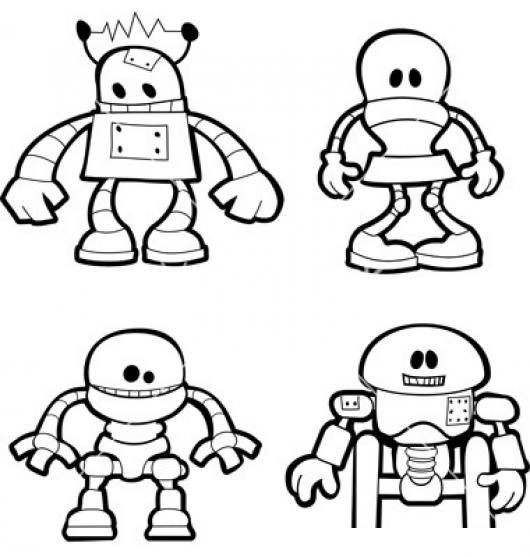 Dibujo De Robots Para Pintar Y Colorear 4 Robots  COLOREAR